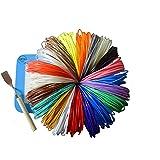 Fifth Street Goods 20 Piece 3D Pen Filament Refills 1.75 mm ABS Different Colors, Bonus 2 Glow in the Dark, 380 Linear Feet Free Spatula with A Mat and 3D Stencils E-Book, Universal Bundle