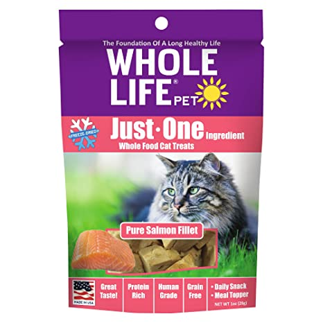 Whole Life Pet Products Toda la Vida Mascota Sola ingrediente Estados Unidos Freeze Dried salmón Filet