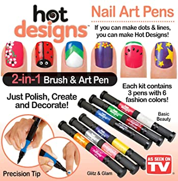 Amazon hot designs nail art pens combo set basic beauty hot designs nail art pens combo set basic beauty and glitz and glam prinsesfo Images