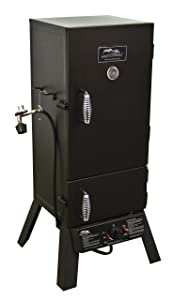 Masterbuilt 30-Inch Outdoor Vertical Propane Gas BBQ Meat Smoker Grill, Black