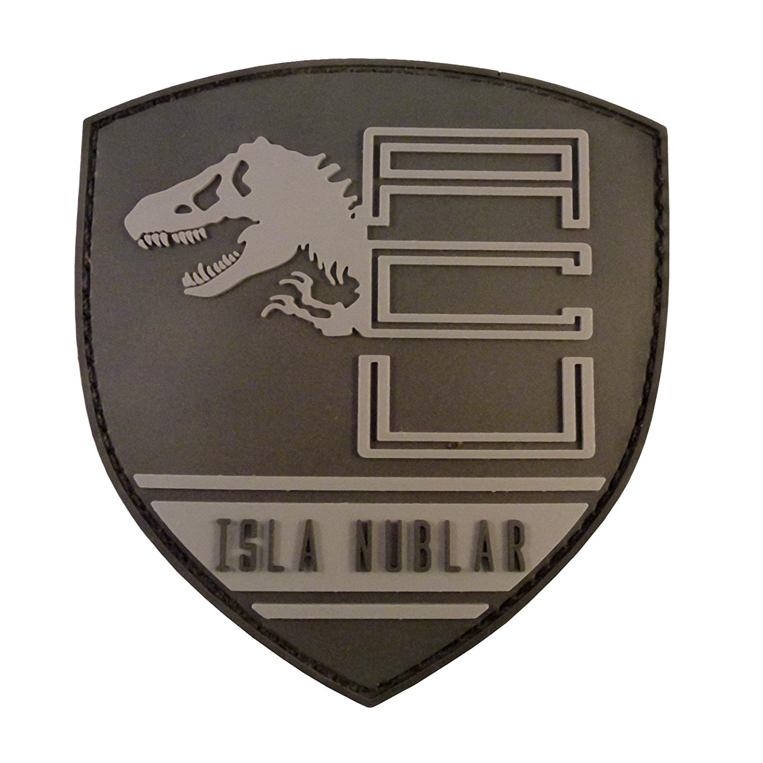 Jurassic World Isla Nublar Shield Collector PVC 3D Rubber Hook& Loop Patch 2AFTER1 P.1725.1.V