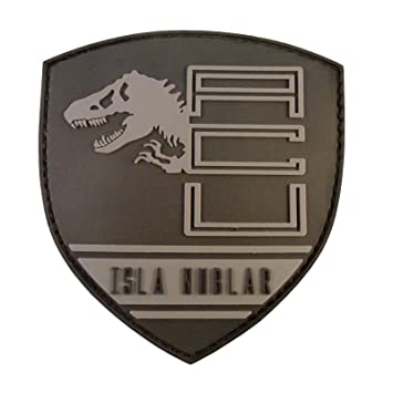 cc3d9cbbee3f Jurassic World Isla Nublar Shield Collector PVC 3D Gomme Attache-boucle  Écusson Patch