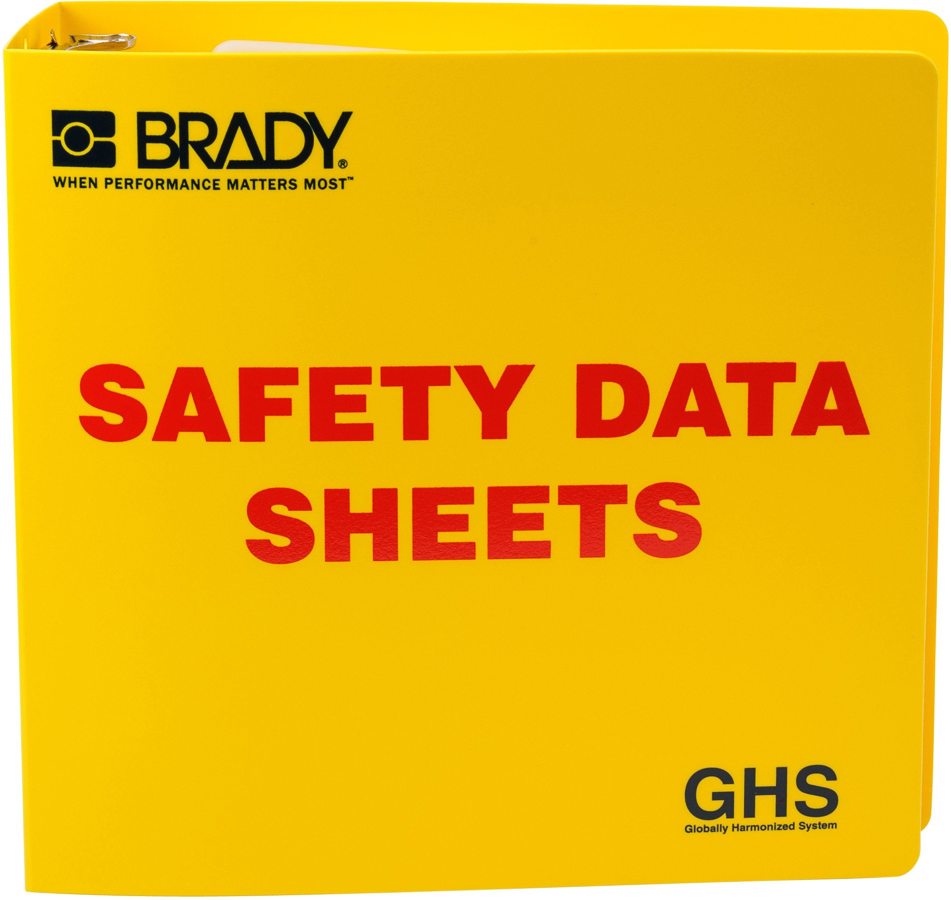 Brady 121184 GHS - 3'' Safety Data Sheet Binder - English