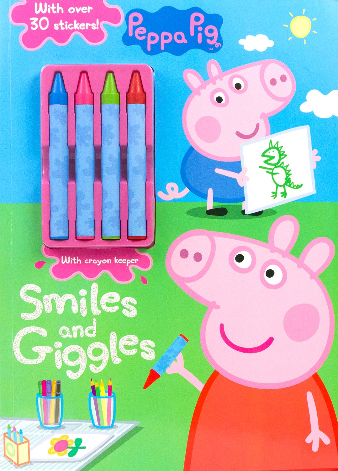 peppa pig smiles and giggles color u0026 activity with crayons