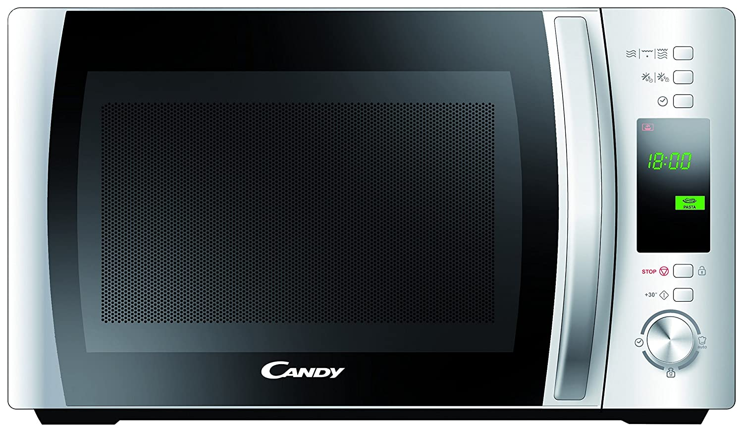 Candy CMWC 20 DW-Microondas. 20 litros. 800 W. Display Digital. Cooking Surround Technology. Diseño más Moderno y más fácil de Limpiar. Color: Blanco, ...