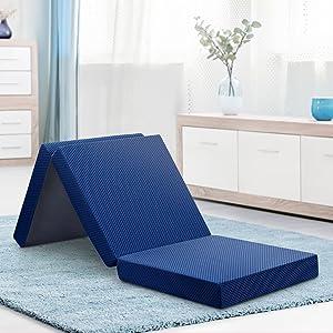 Olee Sleep Tri-Folding Memory Foam Topper, 4'' H, Blue sleep mattress - 81S2Lbj1W2L - Sleep Mattress – Factors in Choosing the Best For You