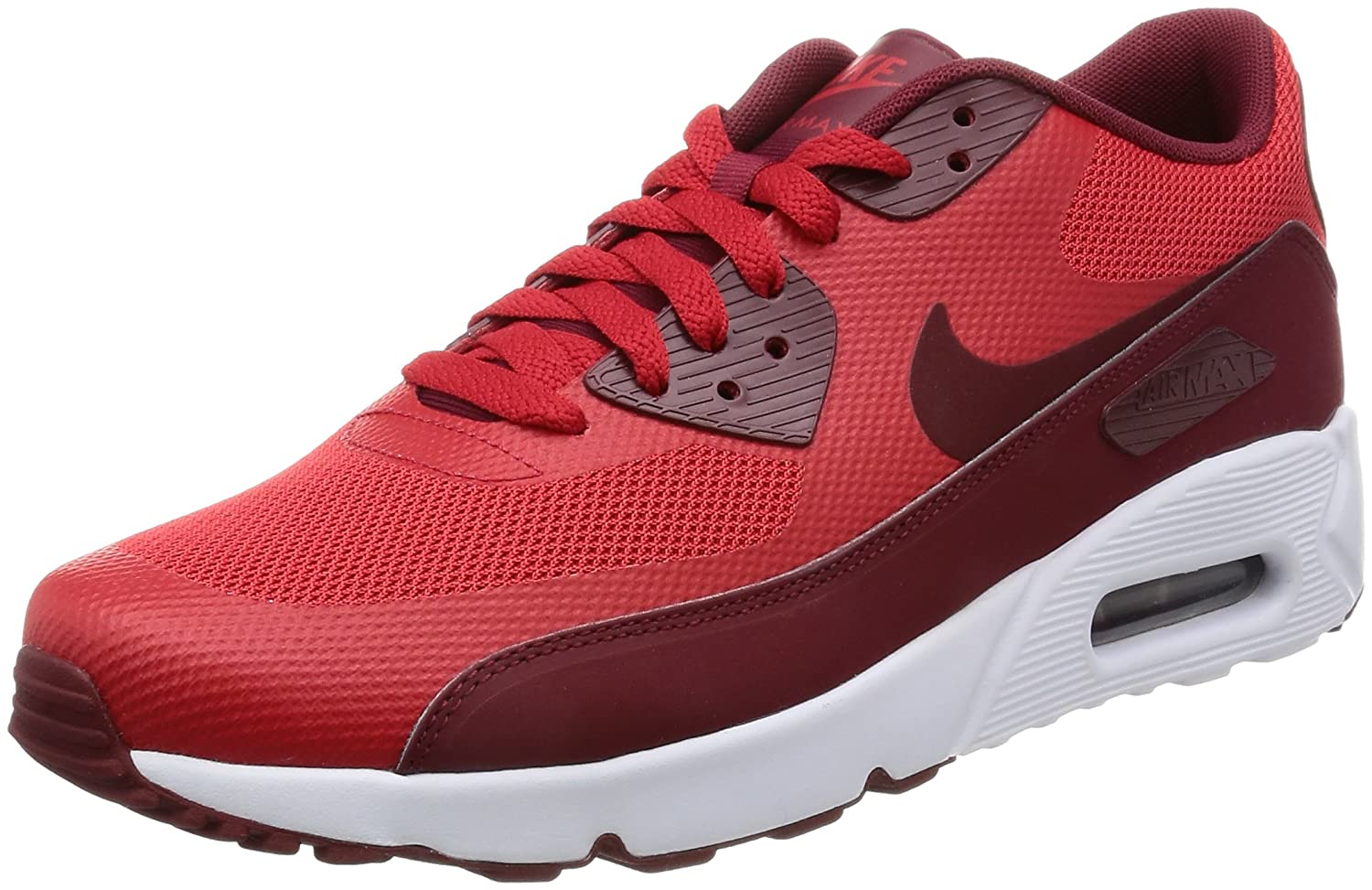 Amazon.com | NIKE Mens Air Max 90 Ultra 2.0 Essential University Red/Team Red/White Running Shoe 10.5 Men US | Road Running