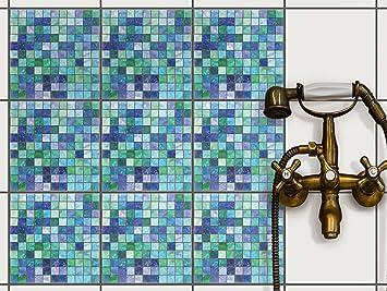Kachel aufkleber  Klebefolie für Badfliesen | Küchen-Fliesen Aufkleber ...