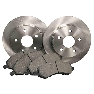 NT-ROT-46 Rear Disc Brake Pad and Rotor Kit: Automotive