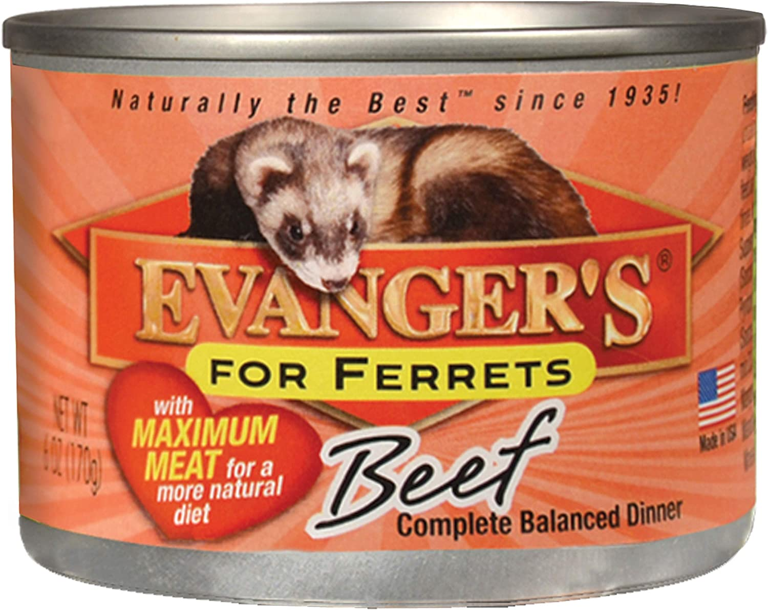 Evanger's Maximum Beef for Ferrets, 12 x 6 oz cans