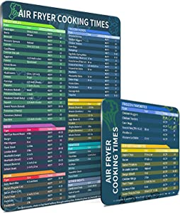 Air Fryer Cooking Timetable, Pressure Cooker Magnetic Sticker Accessories Quick Cooking And Frying Reference Guide 2-piece