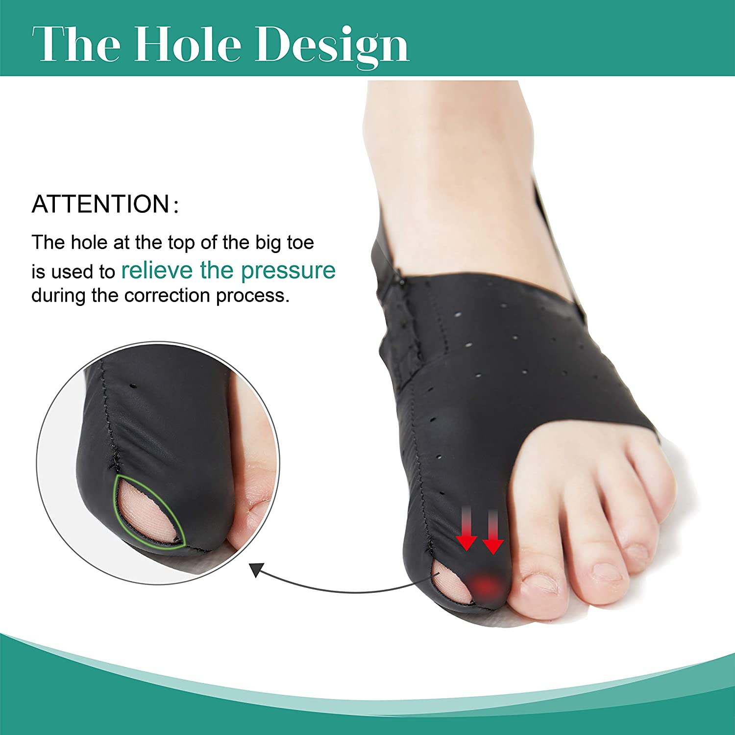Amazon.com: TENMAND Adjustable Elastic Bunion Corrector 24h Day Night Protector Sleeves Toe Straightener Socks Treat Pain Relief Hallux Valgus Hammer Toe ...
