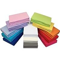 2er-Set Jersey Baby/Kinder-Spannbettlaken Spannbetttuch 60x120-70x140 cm aus 100% Baumwolle in vielen Farben