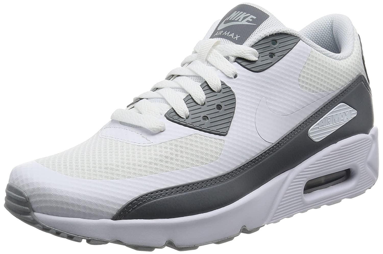 the best attitude 0606b a6375 NIKE Men's Air Max 90 Ultra 2.0 Essential White/White Cool Grey Running  Shoe 10 Men US