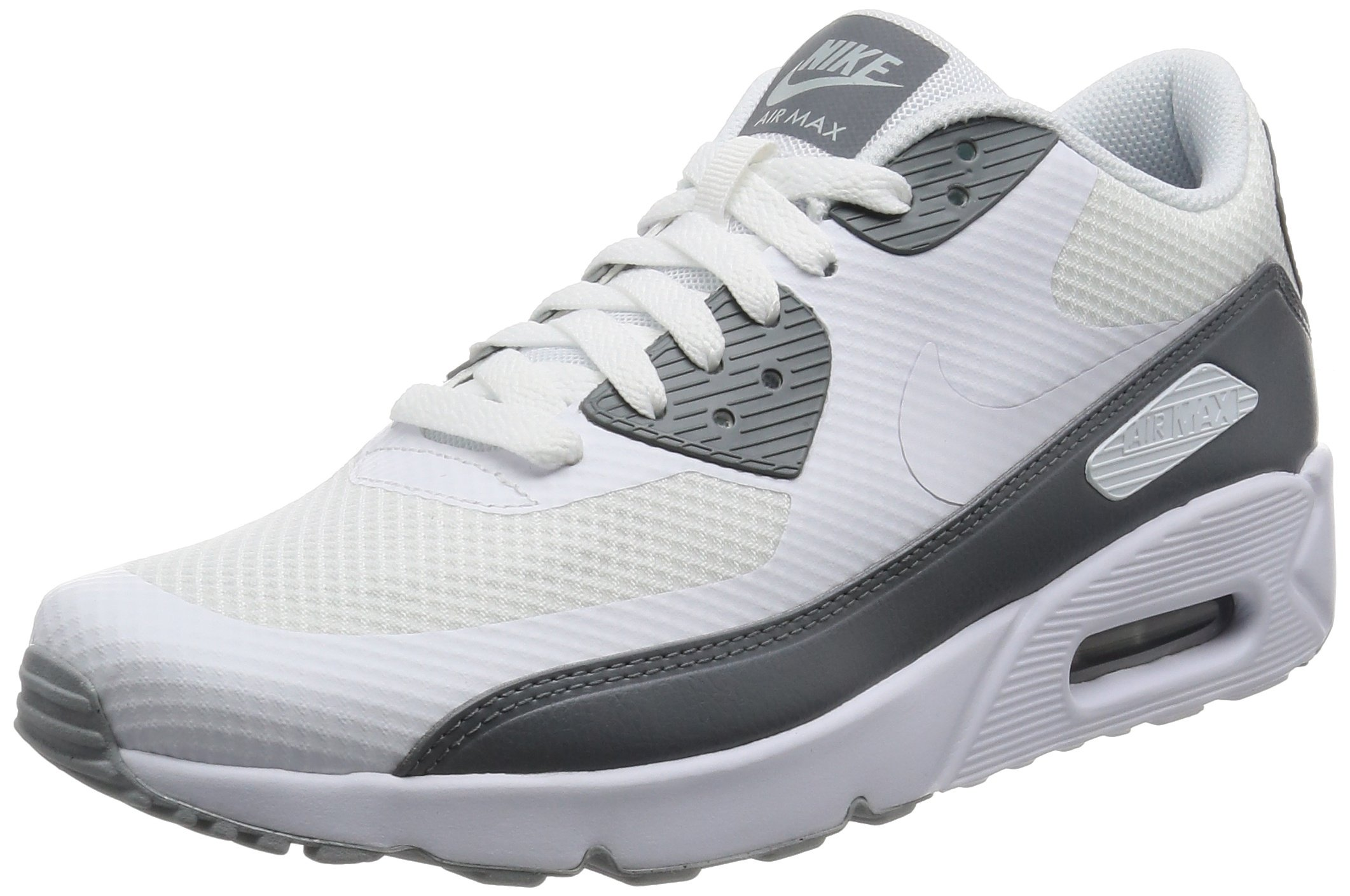 cf2313ee5a6eb NIKE Men's Air Max 90 Ultra 2.0 Essential, White/White-Cool Grey, 9.5 M US