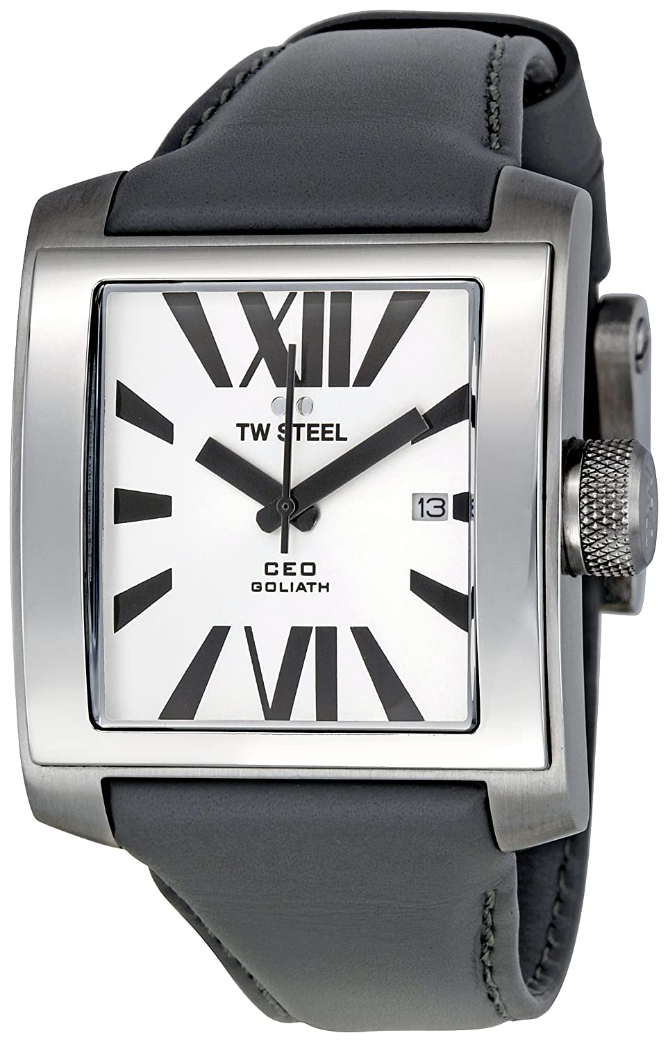 Amazon.com: TW Steel Mens CE3001 CEO Goliath Silver-Tone Dial Watch: TW Steel: Watches
