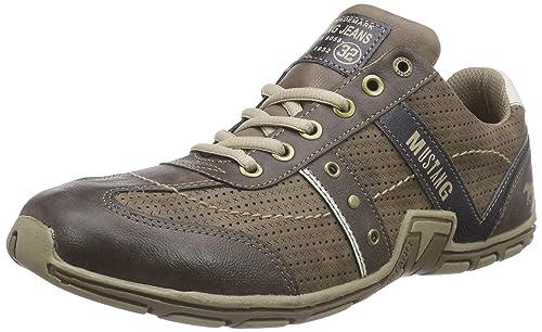 Mustang Herren 4001 317 Sneakers 3 braun, 47 EU: