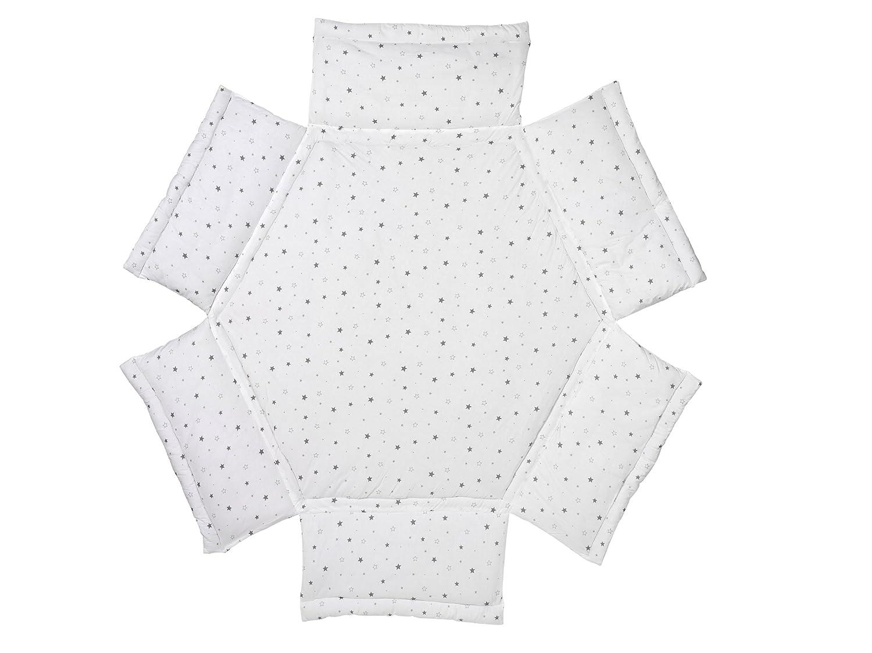 Schardt 1321500001/679Tapis de parc à 6pans Imprimé petites étoiles grises Gris 132150000 1/679
