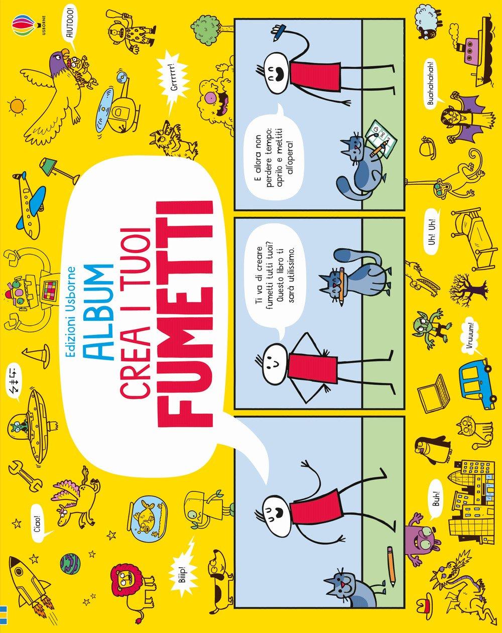 Crea i tuoi fumetti. Album Usborne. Ediz. illustrata Copertina flessibile – 5 ott 2017 Louie Stowell P. A. Livorati Usborne Publishing 1474934781