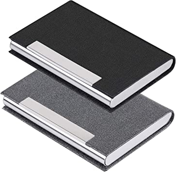 2 Colors Mens Faux Leather Business Name Card Holder Pocket Wallet Card Case