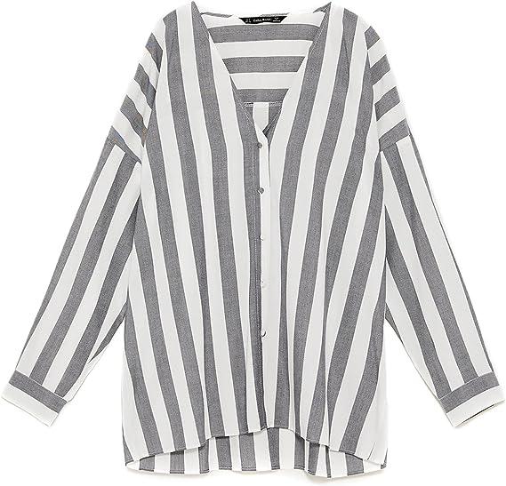 Zara - Camisas - para mujer Negro XL: Amazon.es: Ropa y ...