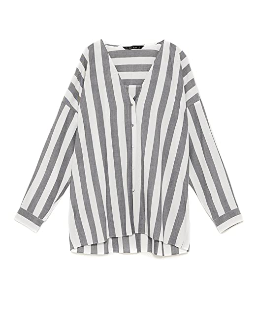 Zara Camisas - Para Mujer Negro XL