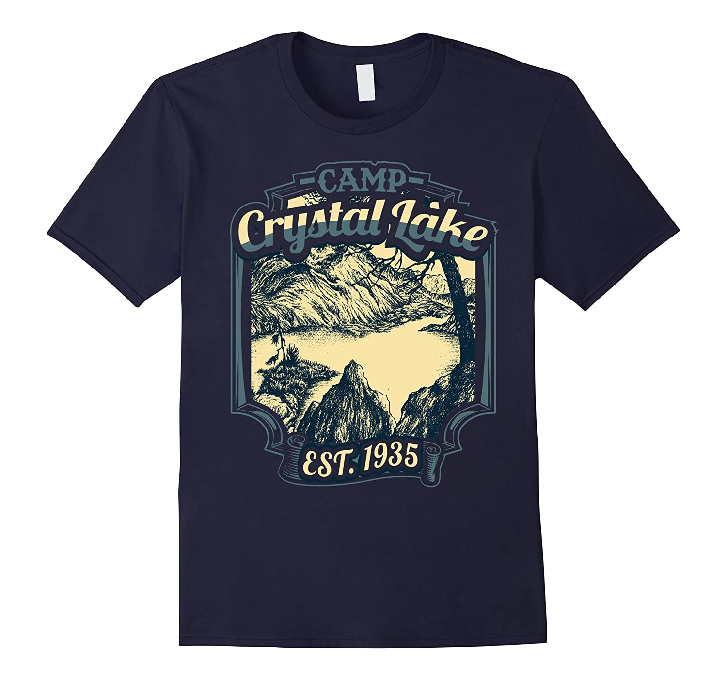 Camp Crystal Lake Est 1935 Funny Novelty 1980s Themed Shirt-CD