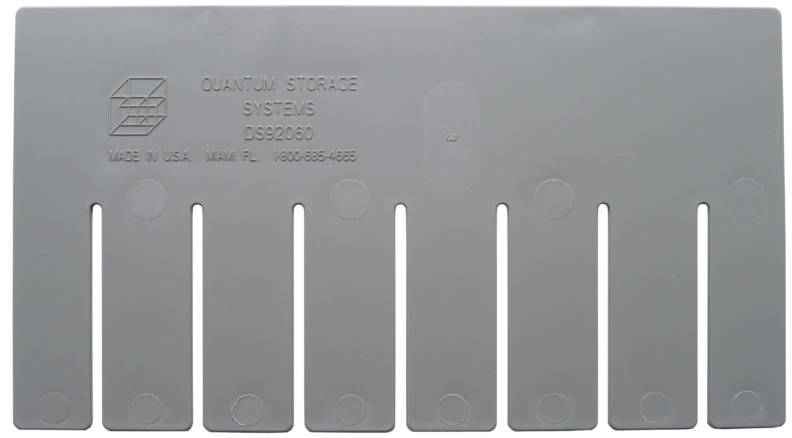 Quantum Storage Systems DS92060 Short Divider for Dividable Grid Container DG92060, Gray, 6-Pack