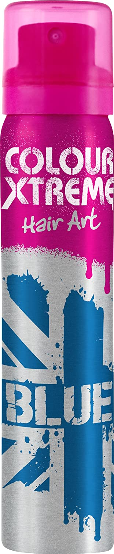 Colour Xtreme Temporary Coloured Hair Art Spray 75ml-Blue