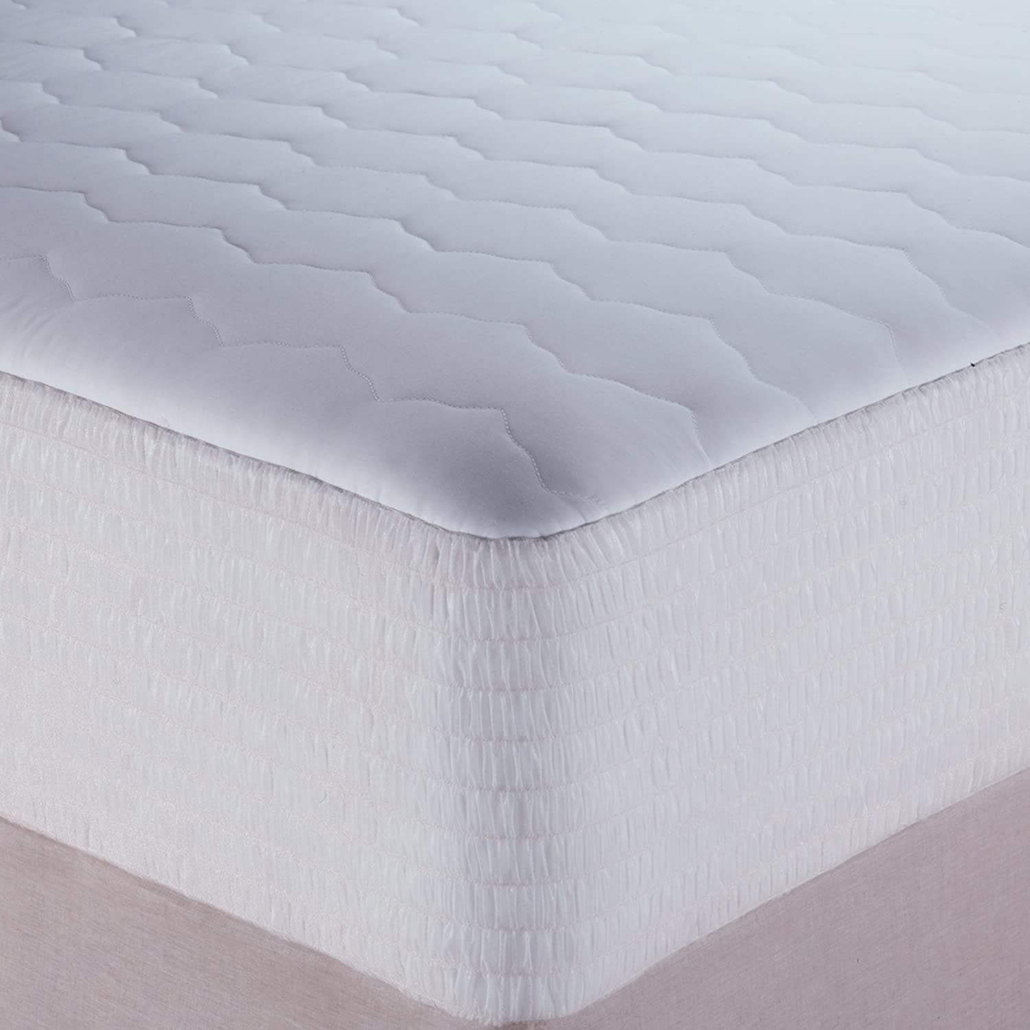 full size waterproof mattress pad Amazon.com: Beautyrest Waterproof Mattress Pad, Cotton Blend, Full  full size waterproof mattress pad