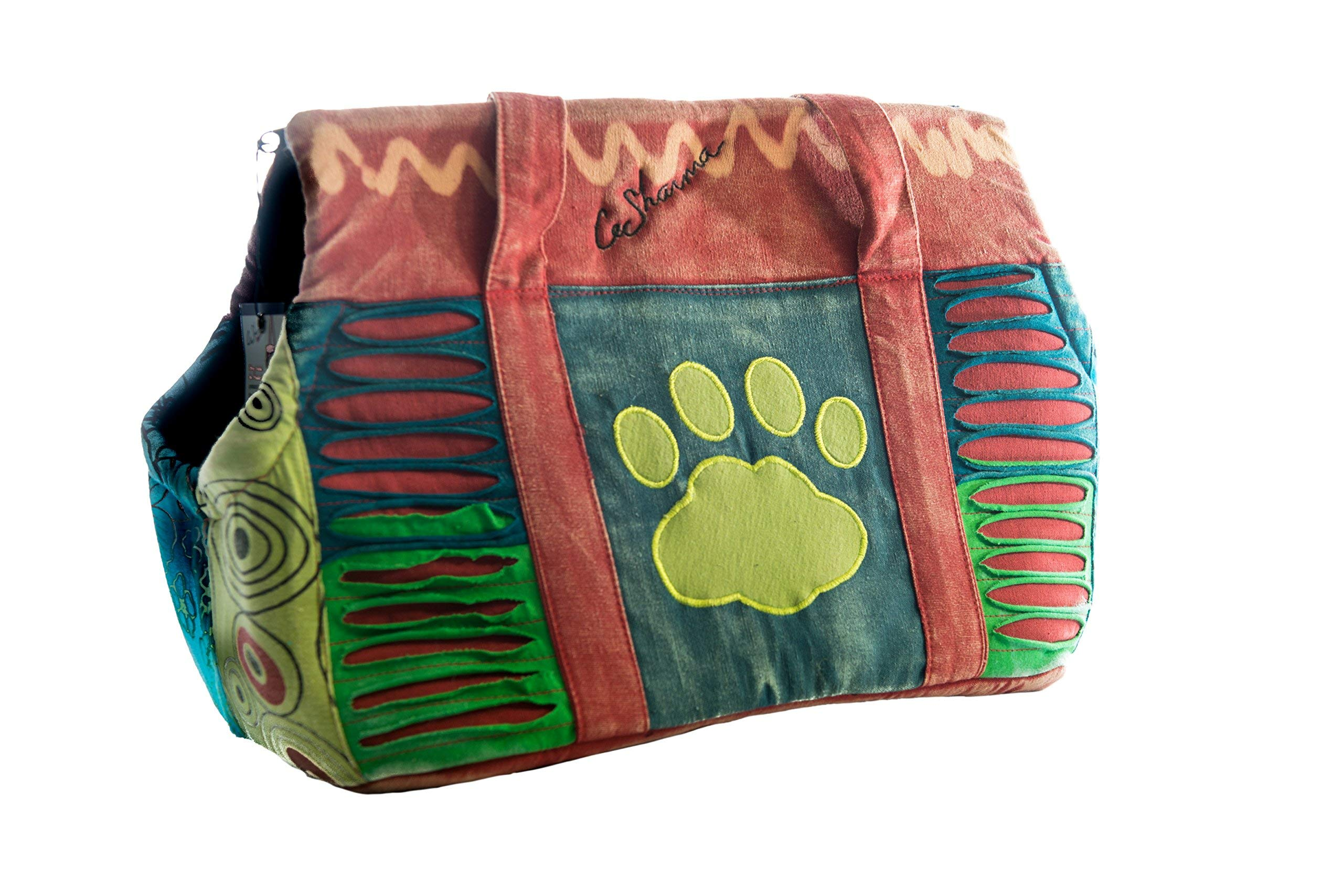 Le Sharma Cotton-Dog Carrier, Handmade with 100% Cotton, Stylish and Practical, Ideal for Small Dogs (LSFCC-01)