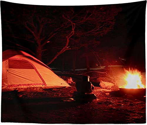 westlake art – USA Campfire – Wall Hanging Tapestry – Picture Photography Artwork Home Decor Living Room – 68×80 Inch 8791D