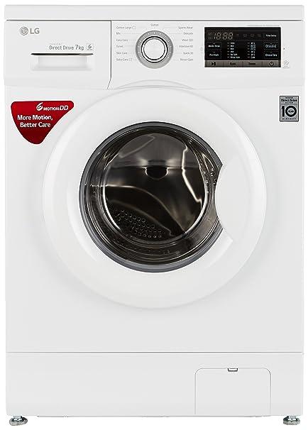 LG 7 kg Fully Automatic Front Loading Washing Machine  FH0G7QDNL02, White  Washing Machines   Dryers