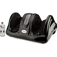 Stok Electric Shiatsu Kneading Rolling Foot Massager Machine For Pain Relief With Remote Control - Black