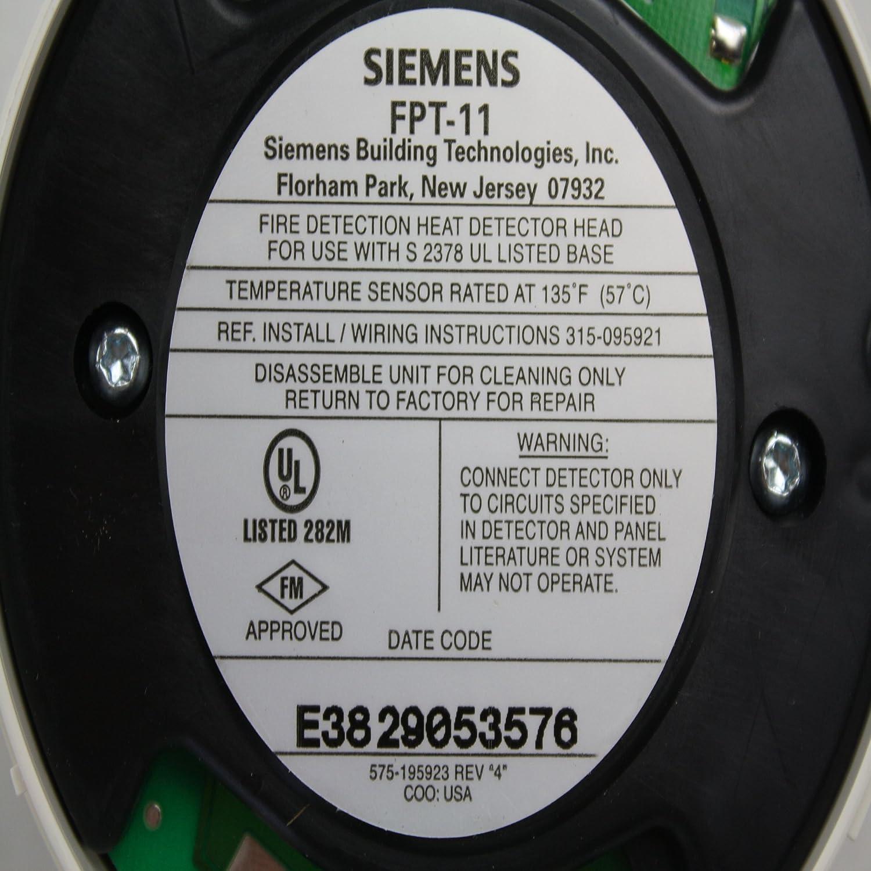 Siemens fpt-11 fuego alarma inteligente plug-in detector térmico sensor de dos hilos: Amazon.es: Bricolaje y herramientas