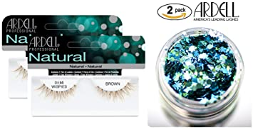 3bc33253d2c Ardell Professional NATURAL Lashes, DEMI WISPIES BROWN (2-PACK with bonus  Skin/