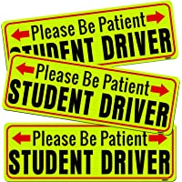 BOKA Student Driver Magnet, Please Be Patient New Driver Signs for Car, High Reflective Rookie Novice Magnetic Safety…
