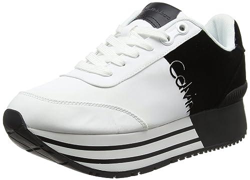 Calvin Klein Carlita Nylon/Flocking, Zapatillas para Mujer: Amazon.es: Zapatos y complementos