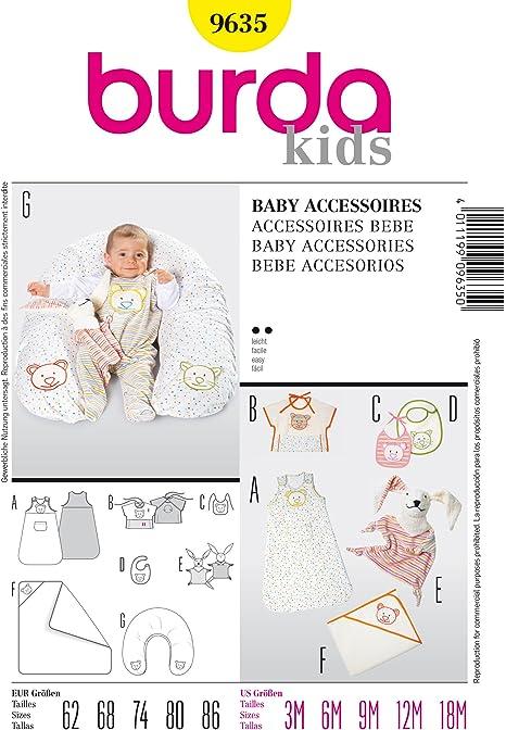 Burda B9635, Accesorios para Bebé, 62-86 EU: Amazon.es: Hogar