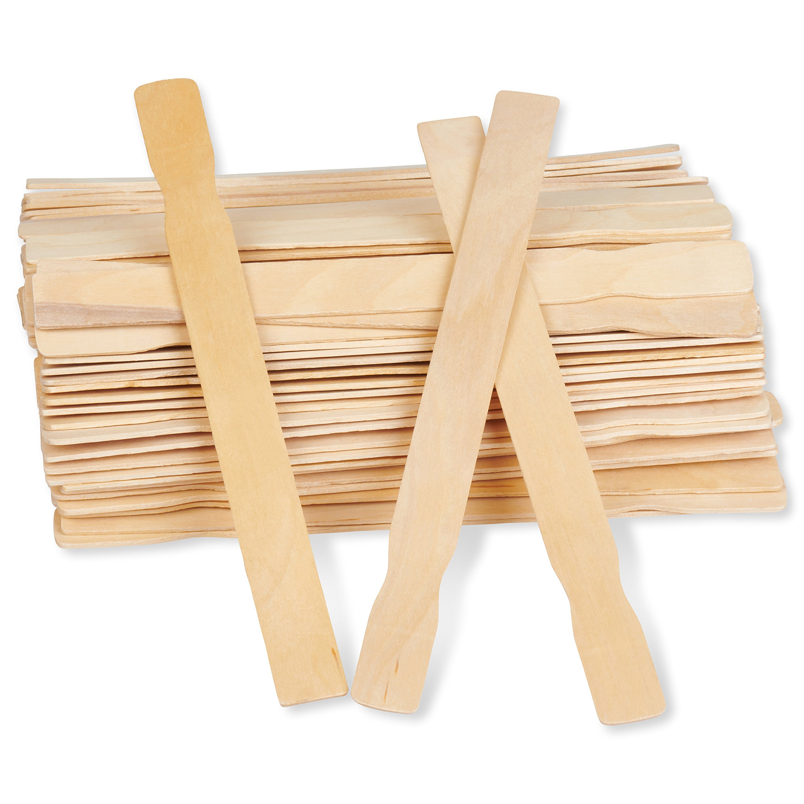 Edgeway USA Paint Sticks Natural Eco-friendly Biodegradable Birchwood Hardwood 100 pieces 12 Inch Bulk Unfinished Large Long Flat Paddles for Mixing Paint, Liquids and Great for Wooden Craft Supplies