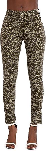 Womens Ladies Leggings Trousers With Zebra Leopard Pattern Cut Out Legging Pants