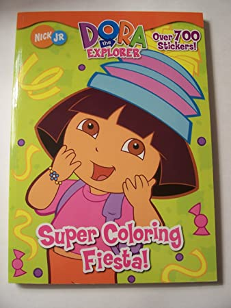Dora The Explorer Sticker Coloring Book Super Fiesta Year Round Party Fun