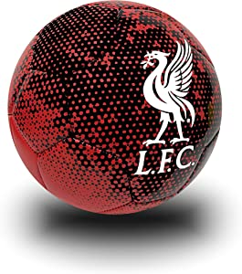 Icon Sports Liverpool Soccer Ball Size # 4, Black and Red Liverpool Football