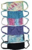 Tie Dye and Solid Color Cotton Masks - Set of 6
