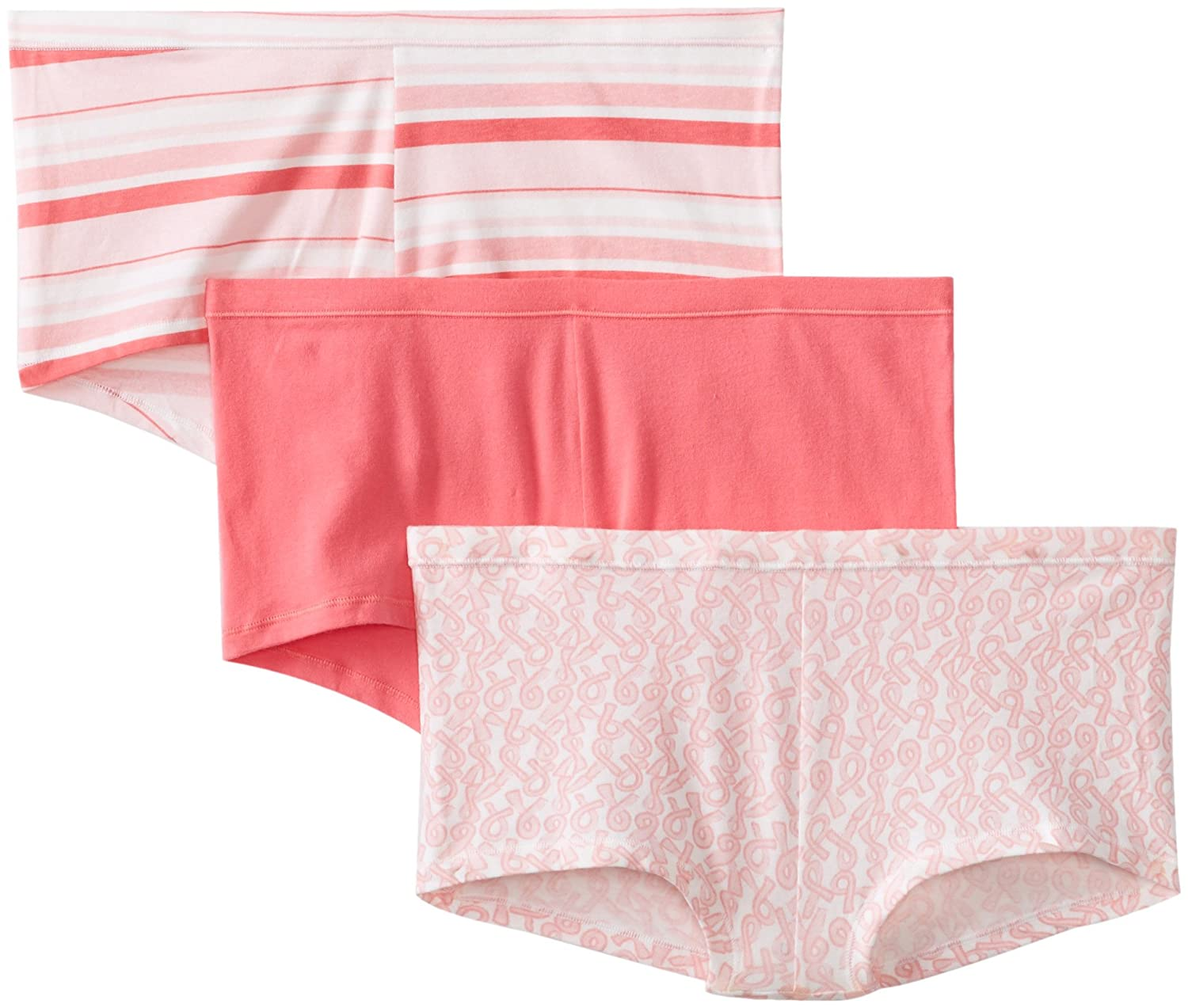 66556cc2b5975 Hanes Women s Comfortsoft Cotton Stretch Boy Brief (Pack of 3)(assorted  colors) at Amazon Women s Clothing store  Boy Shorts Panties