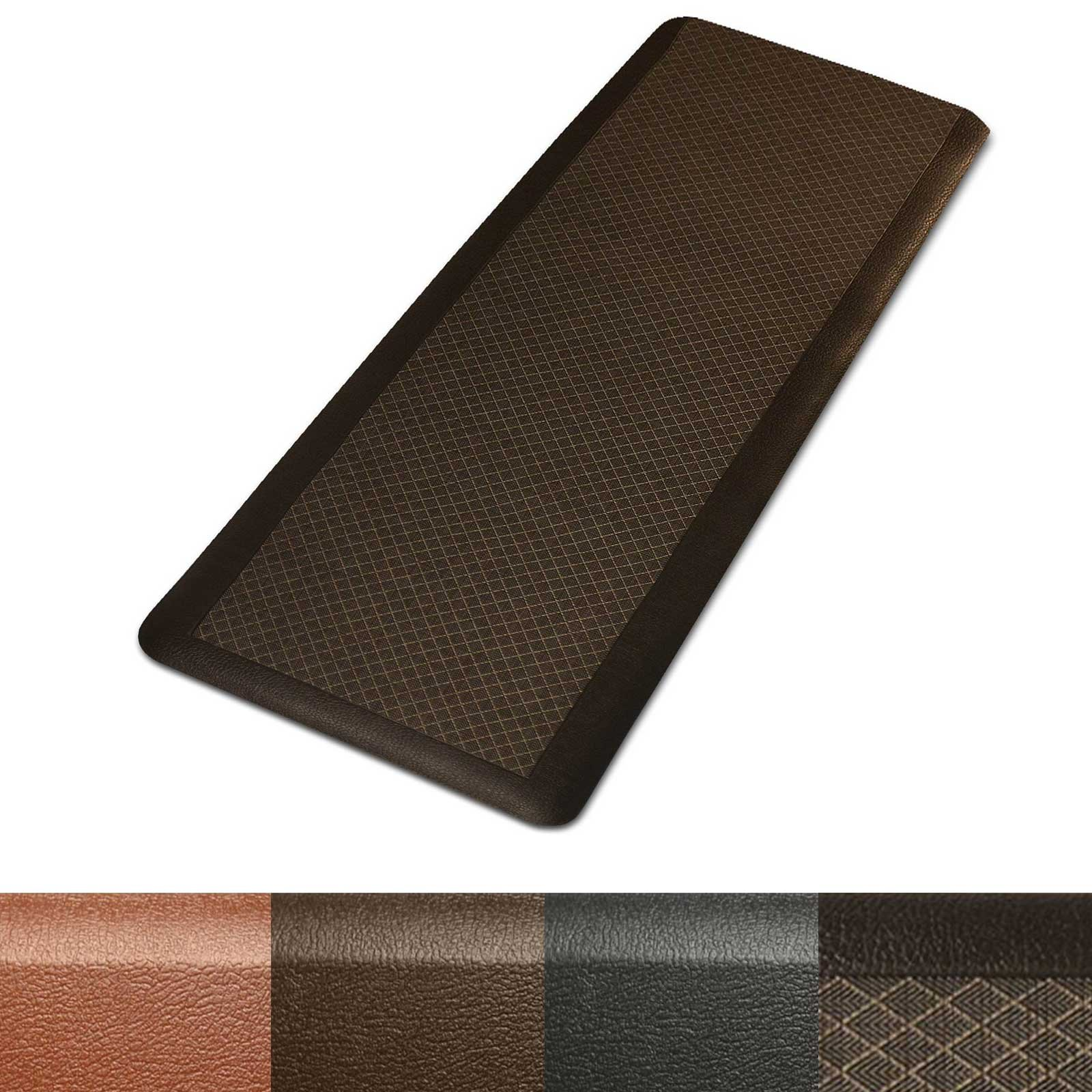 Kitchen Mat | Anti Fatigue Mat, 3/4 Thick | Ergonomically Engineered, Non-Slip, Waterproof | 20''x72'' - Dark Brown
