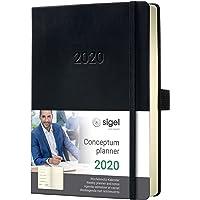SIGEL C2014 Wochen-Notizkalender 2020, ca. A5, schwarz, Hardcover Conceptum - weitere Modelle