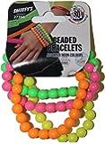 Smiffy's - Braccialetti con perle grandi, Colori fluorescenti assortiti