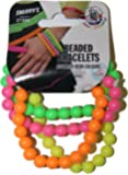 Smiffy's Beaded Bracelets - Neon Assorted Colours