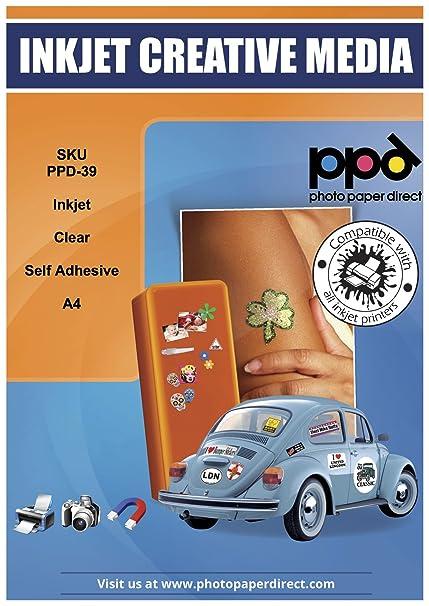 PPD Pegatinas de vinilo transparente para impresión de inyección ...